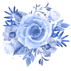 blue corsage for Ike