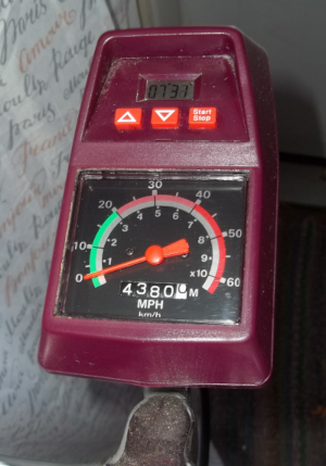 This odometer may be the most important part as it shows you how fast you are pedalling and how far you've gone.